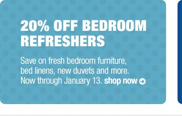 20% off bedroom refreshers