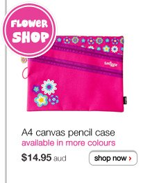 A4 canvas pencil case - $14.95aud - available in more colours