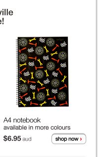 A4 notebook - $6.95aud - available in more colours