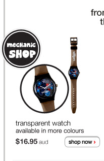 from black woods to pinkville then over to orange vale! - transparent watch - $16.95aud - available in more colours