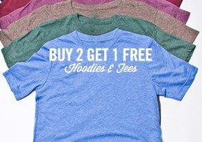 Shop Buy 2 Get 1 Free: Hoodies & Tees