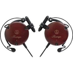 Adorama - Audio-Technica ATH-EW9 Lightweight Wood Clip-on Headphones