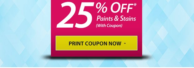 Refresh your Home for the New Year - 25% Off* Paints Jan. 9-31 - Print Coupon!