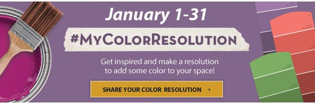 Add Some Color to your Space - Make Your Color Resolution Today!