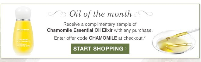 Oil of the month. Receive a complimentary deluxe sample of Rose Essential Oil Elixir with your $75 purchase.