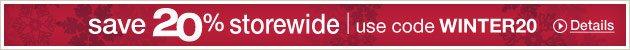 Save 20% storewide | use code WINTER20. Details »