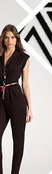 Drape Front Belted Jumpsuit