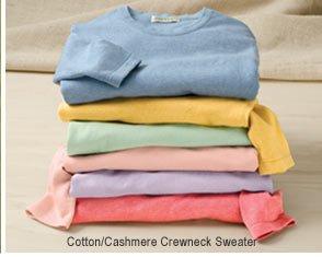 Cotton/Cashmere Crewneck Sweater