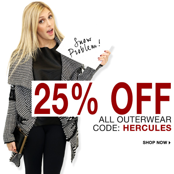 Take 25% off all outerwear at Boutique To You!