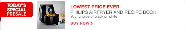 LOWEST PRICE EVER - PHILIPS AIRFRYER AND RECIPE BOOK | BUY NOW