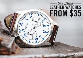 Shop The Trend: Leather Watches from $35