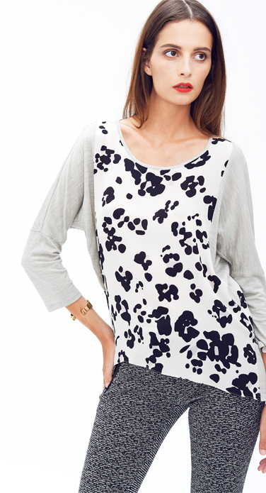 Cool Cat Print Slouch Tee