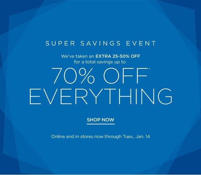 Extra 25% off Super Savings Event