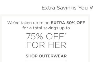 Up to 75% off for her