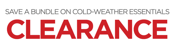 SAVE A BUNDLE ON COLD-WEATHER ESSENTIALS CLEARANCE