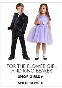 FOR THE FLOWER GIRL AND RING BEARER SHOP GIRLS▶ SHOP BOYS▶