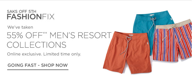 55% off Men's Resort Collections