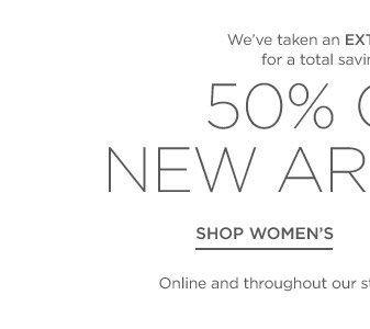 Up to 50% off New Arrivals