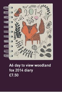 a6 day to view woodland fox 2014 diary