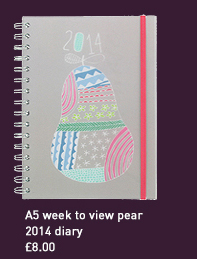 a5 week to view pear 2014 diary