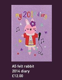 a5 felt rabbit 2014 diary