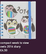 compact week to view owls 2014 diary