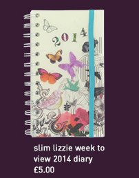 slim lizzie week to view 2014 diary