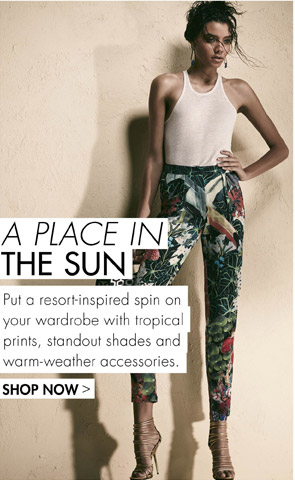 A PLACE IN THE SUN - SHOP NOW