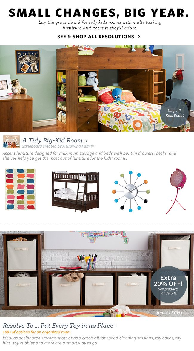 A Tidy Big-Kid Room