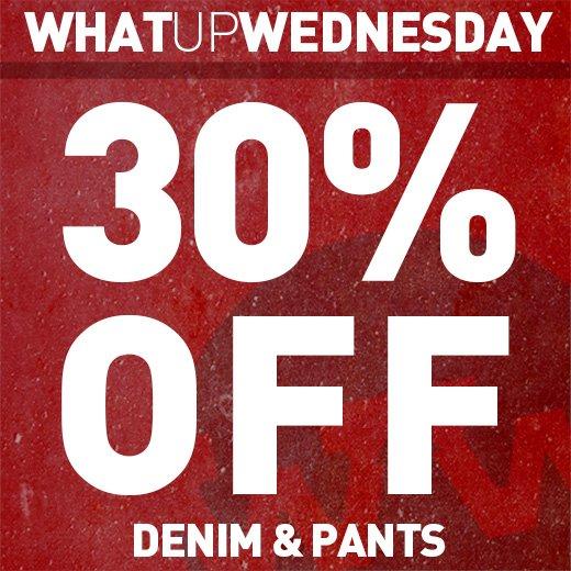 30% Off Denim & Pants