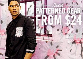 Shop Fresh Patterned Gear from $24