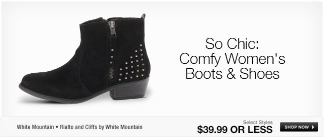 So Chic: Comfy Womens Boots and Shoes