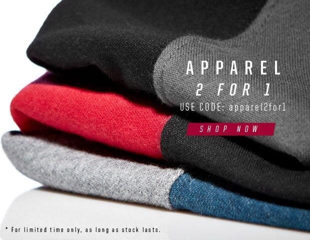 Apparel now 2 for 1