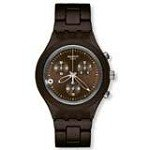 Swatch SVCC4000AG Unisex Full Blooded Smoky Brown Dial Aluminum Chronograph Watch