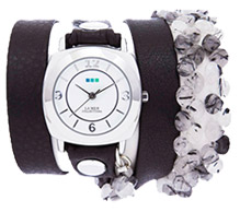 Tesoro-Black Wrap Watch