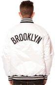 The Brooklyn Nets Starter Jacket in White