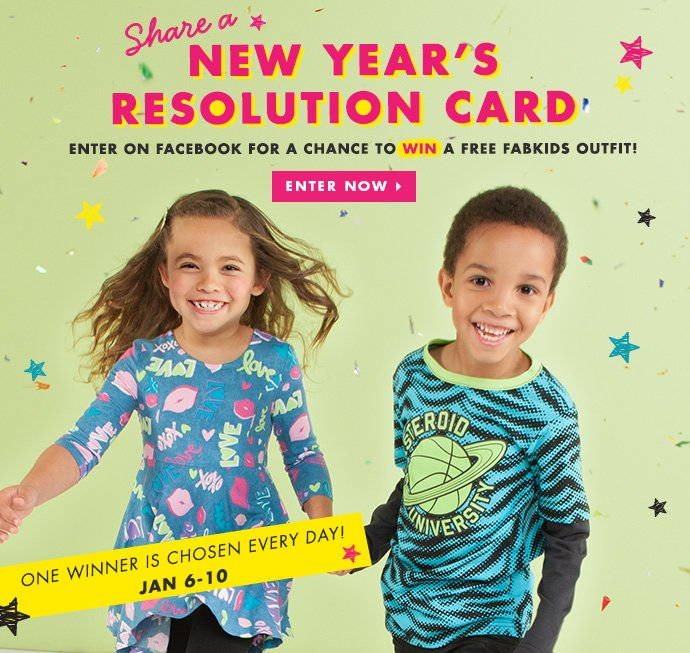 Enter on Facebook to Win a Free FabKids Outfit!