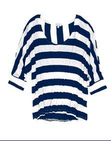 Stripe Drapey Lux Boxy Top