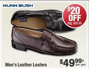Leather Loafers $49.99 per pair