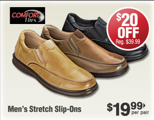 Stretch Slip-Ons $19.99 per pair