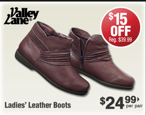 Leather Boots $24.99 per pair