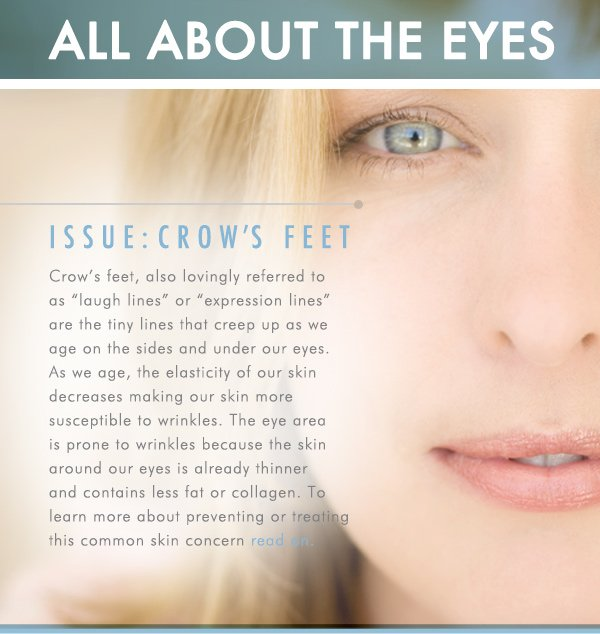 All about eyes: Crow's feet