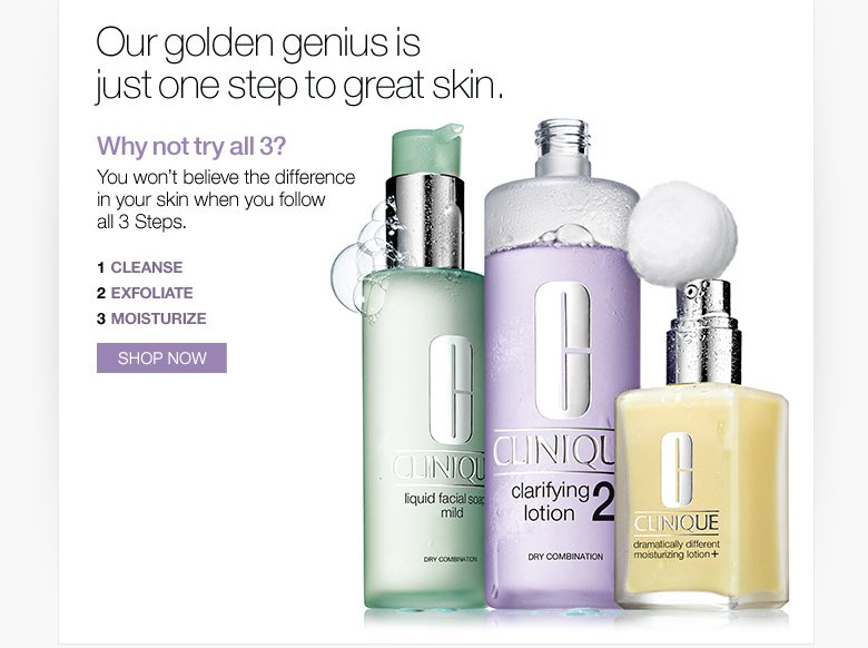 Our golden genius is just one step to great skin.
