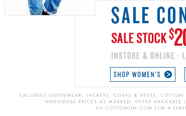Shop Women's Sale