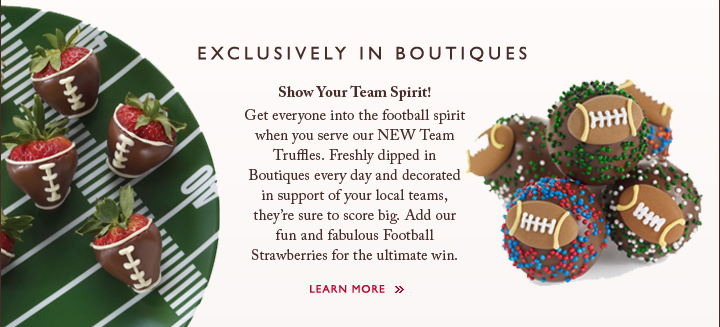 EXCLUSIVELY IN BOUTIQUES | Show Your Team Spirit