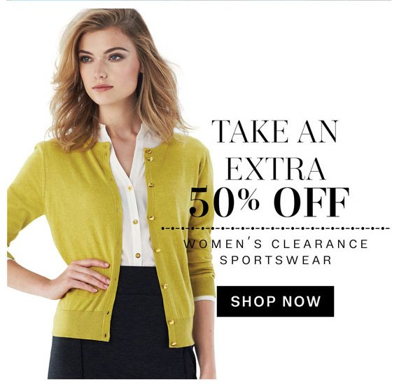 Take an Extra 50% Off. Women's Clearance Sportswear. Shop Now.