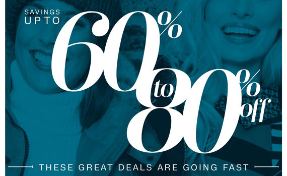 Savings Up to 60% to 80% Off these great deals are going fast.