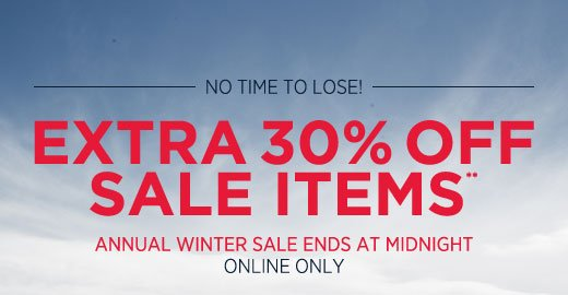Extra 30% off sale items** Last Day