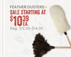Feather Dusters starting at $10.39