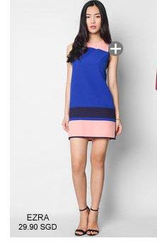 EZRA Colour Block Shift Dress